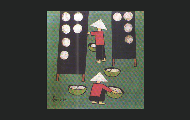 Rice paper workers
