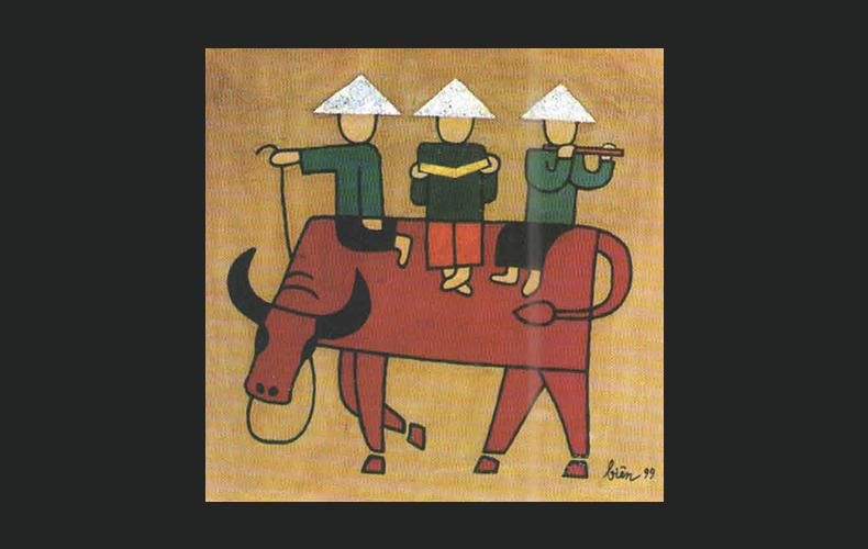 Three buffalo-boys